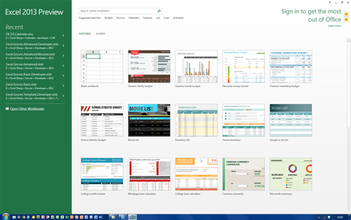 Office 2013 Preview