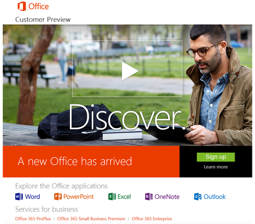 Office 2013 Customer Preview
