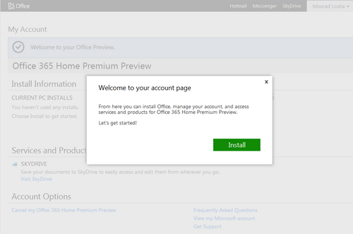 Office 2013 und Office 365 Preview