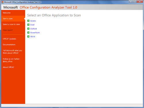 Microsoft Office Configuration Analyzer Tool
