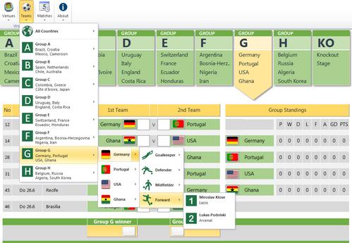 Excel-Vorlage WM 2014