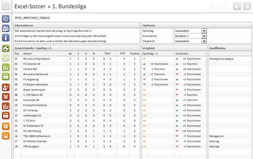 Excel Soccer Bundesliga