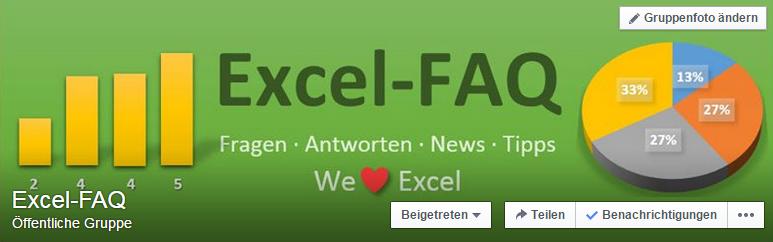 Excel-FAQ-Gruppe bei Facebook