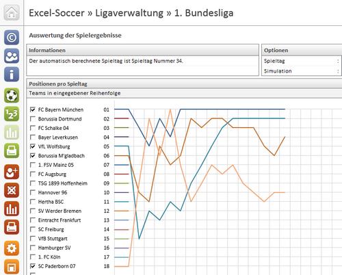 Excel-Soccer Ligaverwaltung