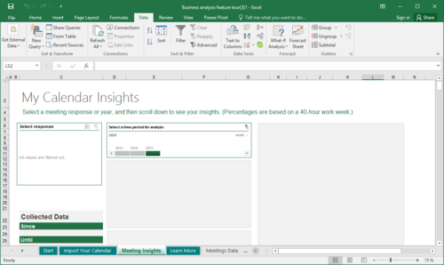 Vorlagen in Excel 2016